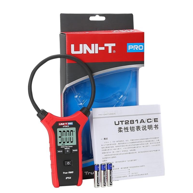 UT281A miernik cęgowy cewka rogowskiego 3000A truerms wartośc skuteczna IP54 True RMS Unit uni-t UT-281a