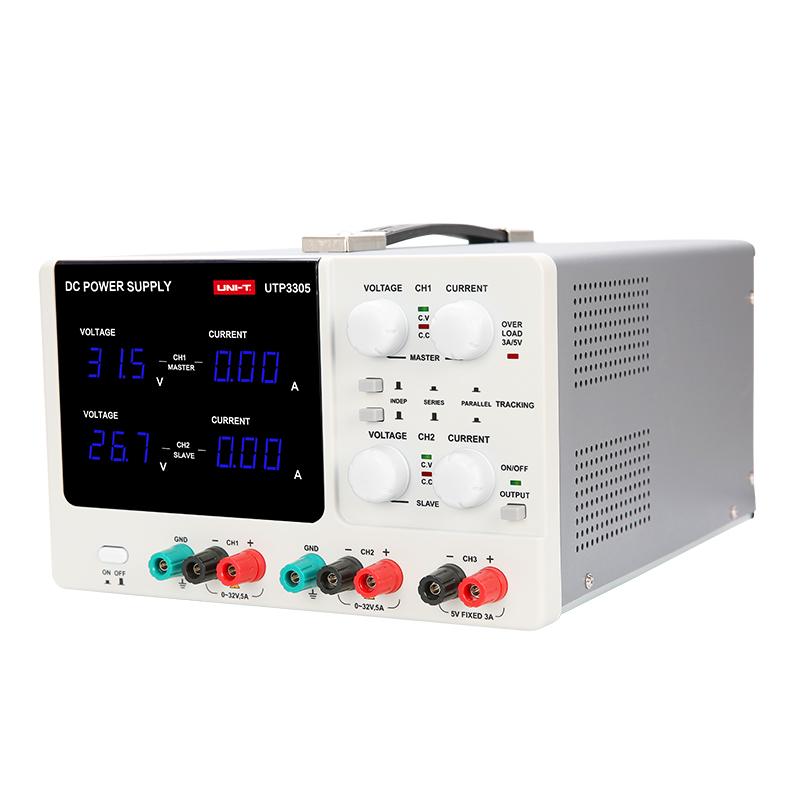 UTP3305 zasilacz laboratoryjny symetryczny podwójny unit 30V 32V 5A 5V