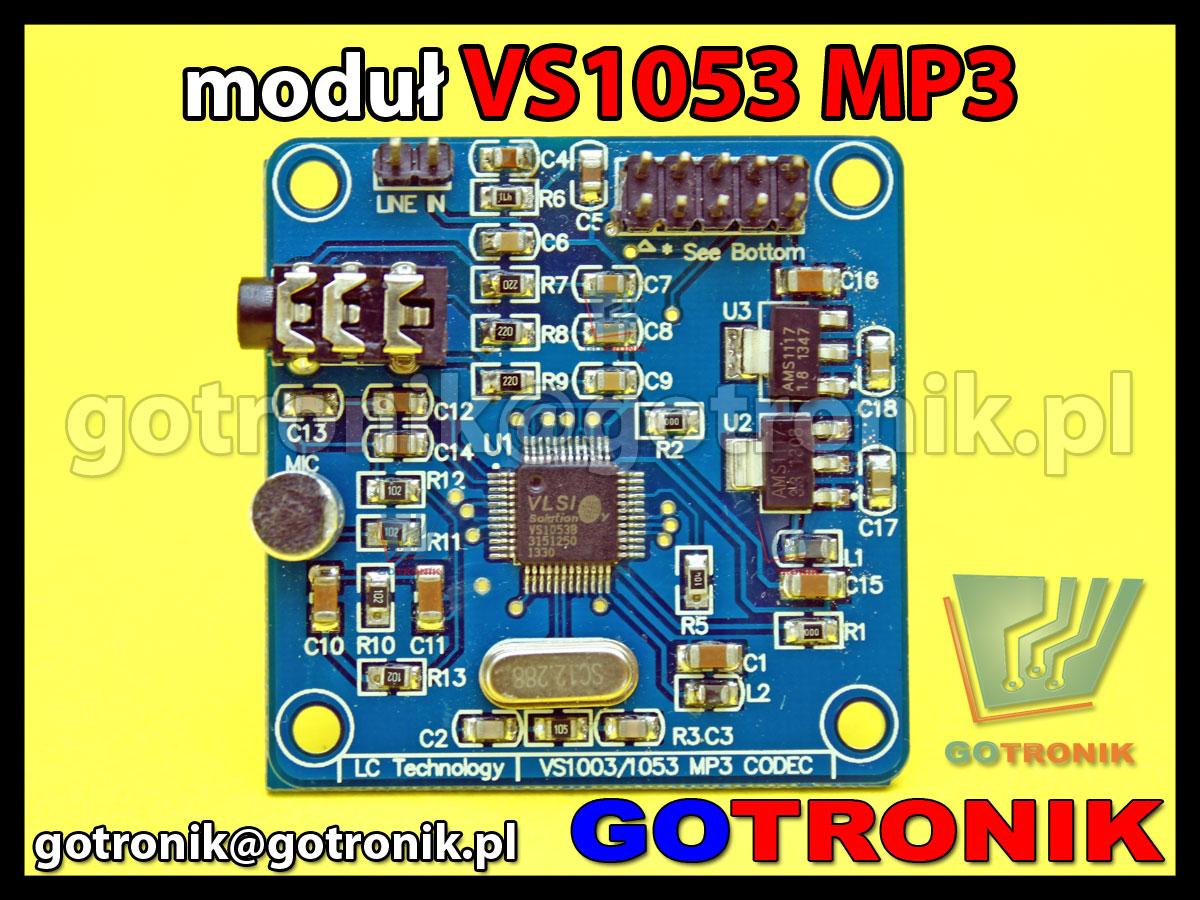 moduł VS1053 VLSI sprzętowy odtwarzacz plików MP3