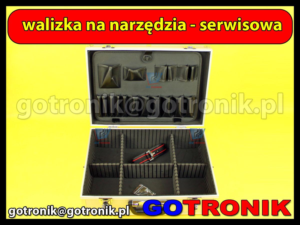 Aluminiowa walizka narzędziowa - serwisowa 460 x 335 x 155 mm