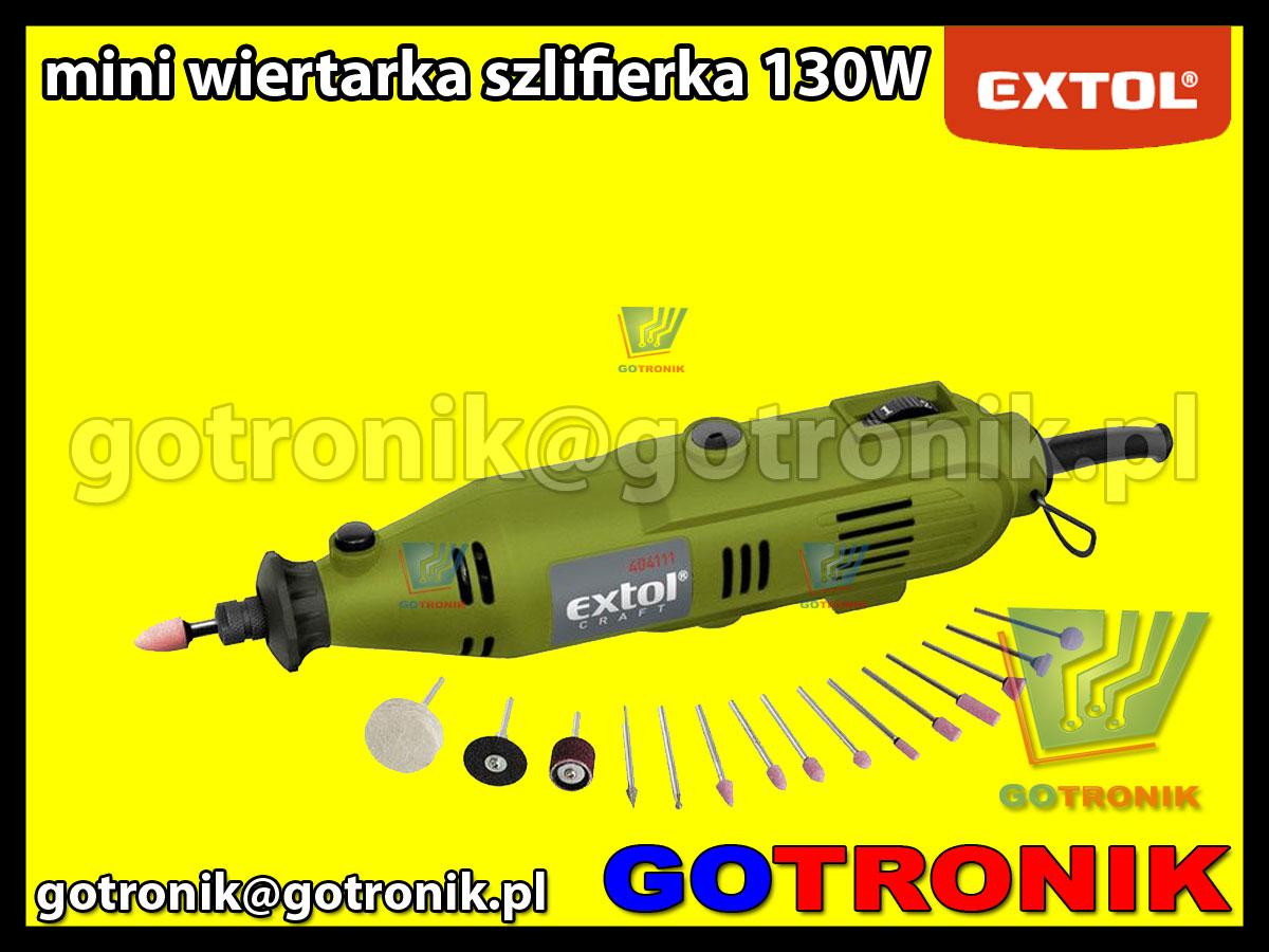 Mini wiertarka szlifierka 130W Extol Craft modelarska
