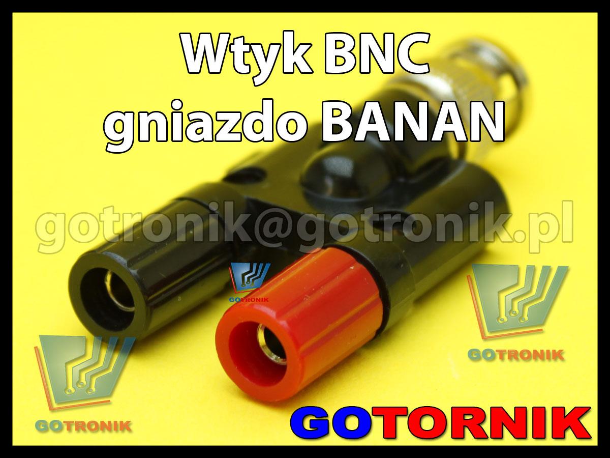 Wtyk BNC na 2x gniazdo banan