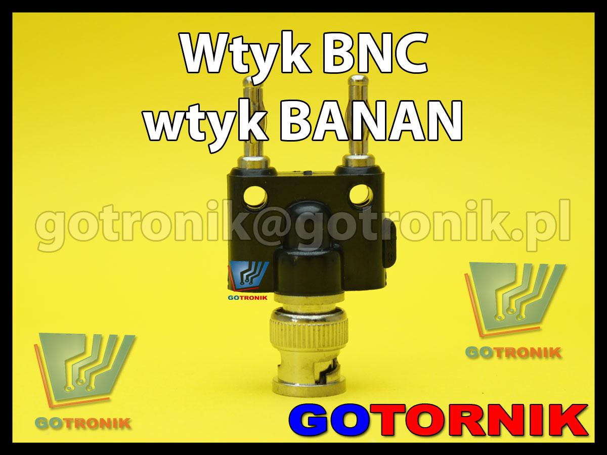 Wtyk BNC na 2x wtyk banan