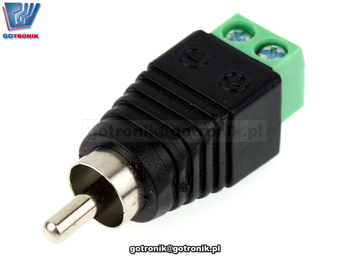 Wtyk RCA z szybkozłączem Z268