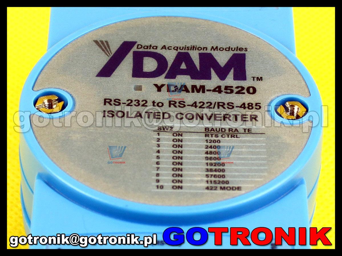 YDAM-4520 Konwerter z optoizolacją RS-232 do RS-422/485