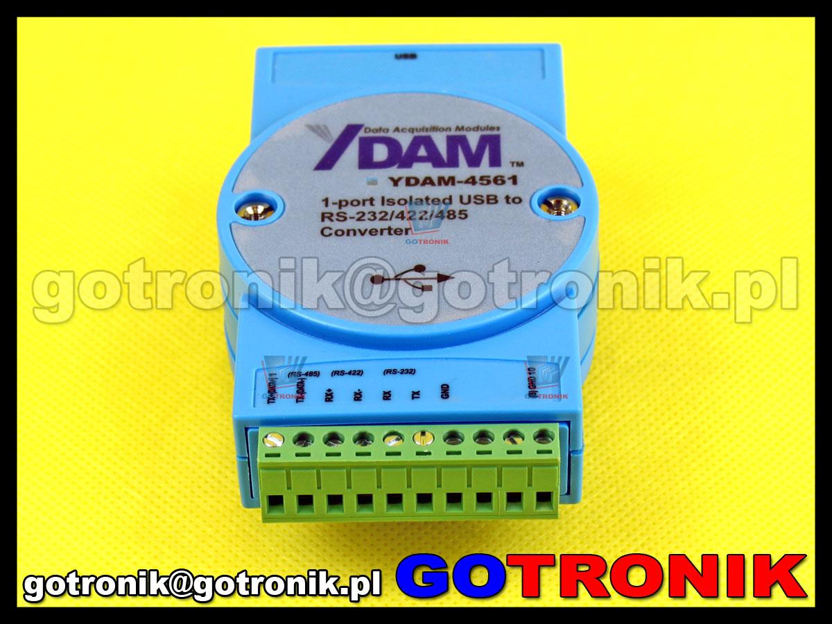 Konwerter YDAM-4561 USB to RS232/RS422/RS485 zamiennik dla ADAM-4561
