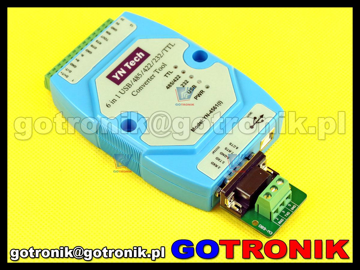 YN-4561 konwerter interfejsów 6w1 USB/485/422/232/TTL yn4561