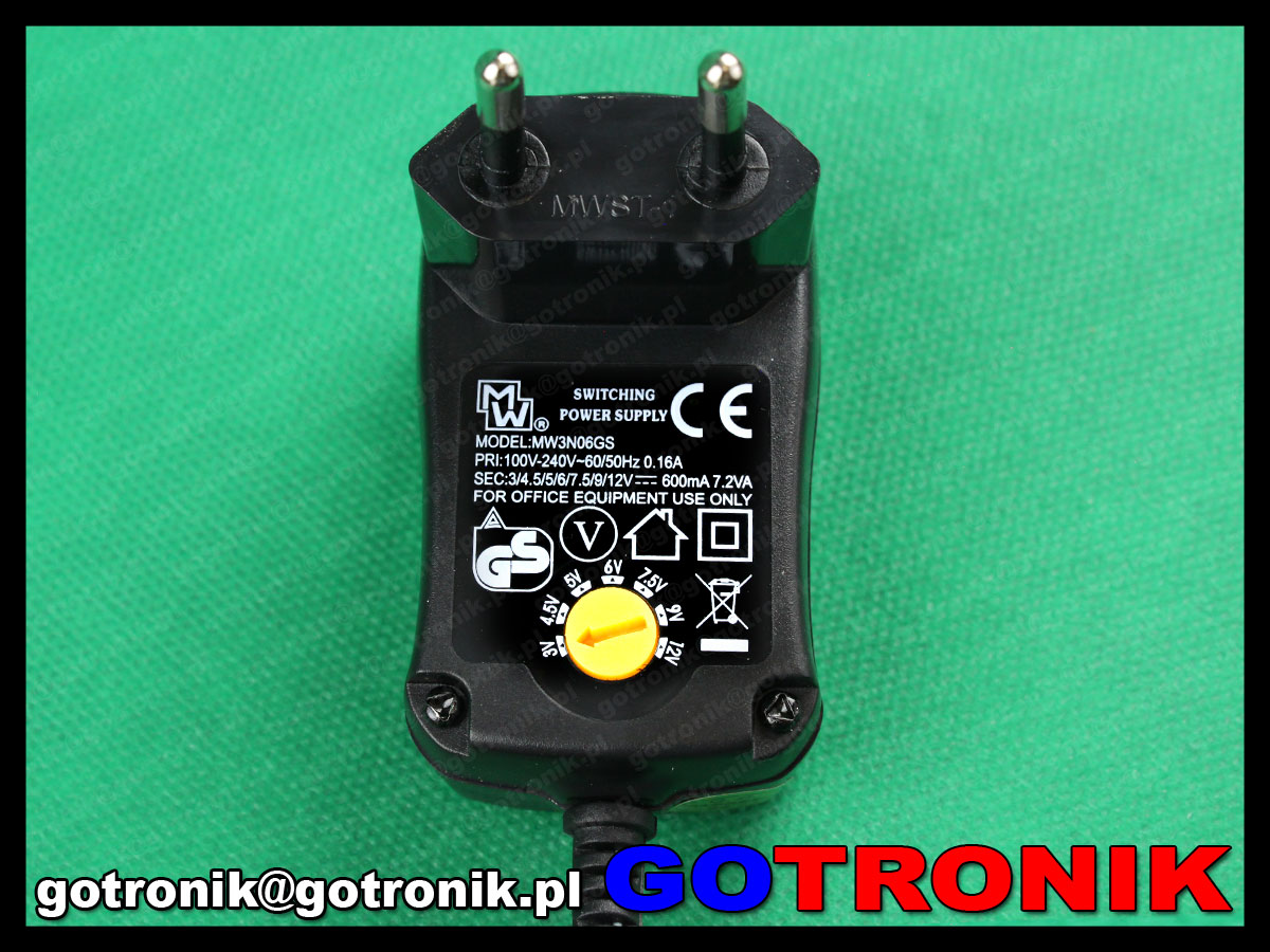 MW3H36GS 3000mA uniwersalny zasilacz impulsowy ładowarka minwa 5 - 15V DC