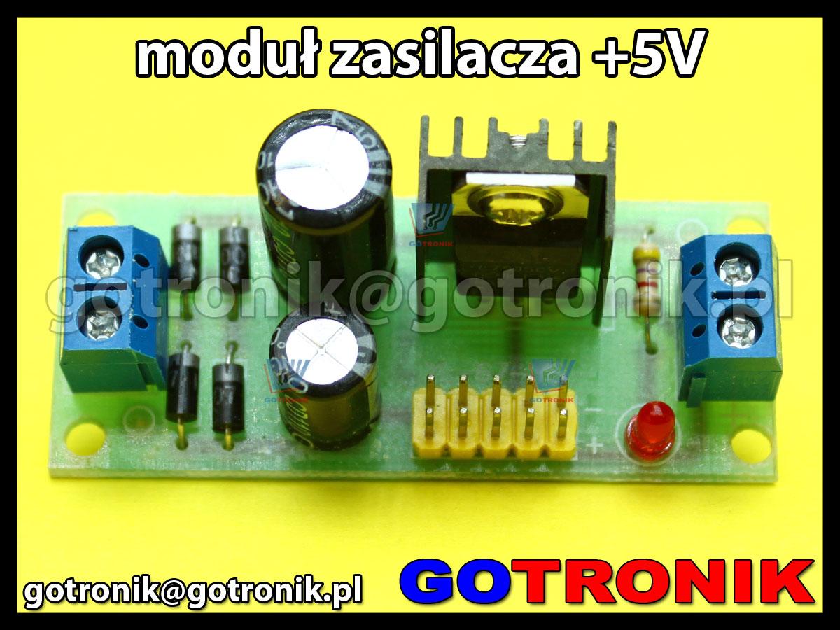 Moduł mini zasilacza ze stabilizatorem 7805 +5V