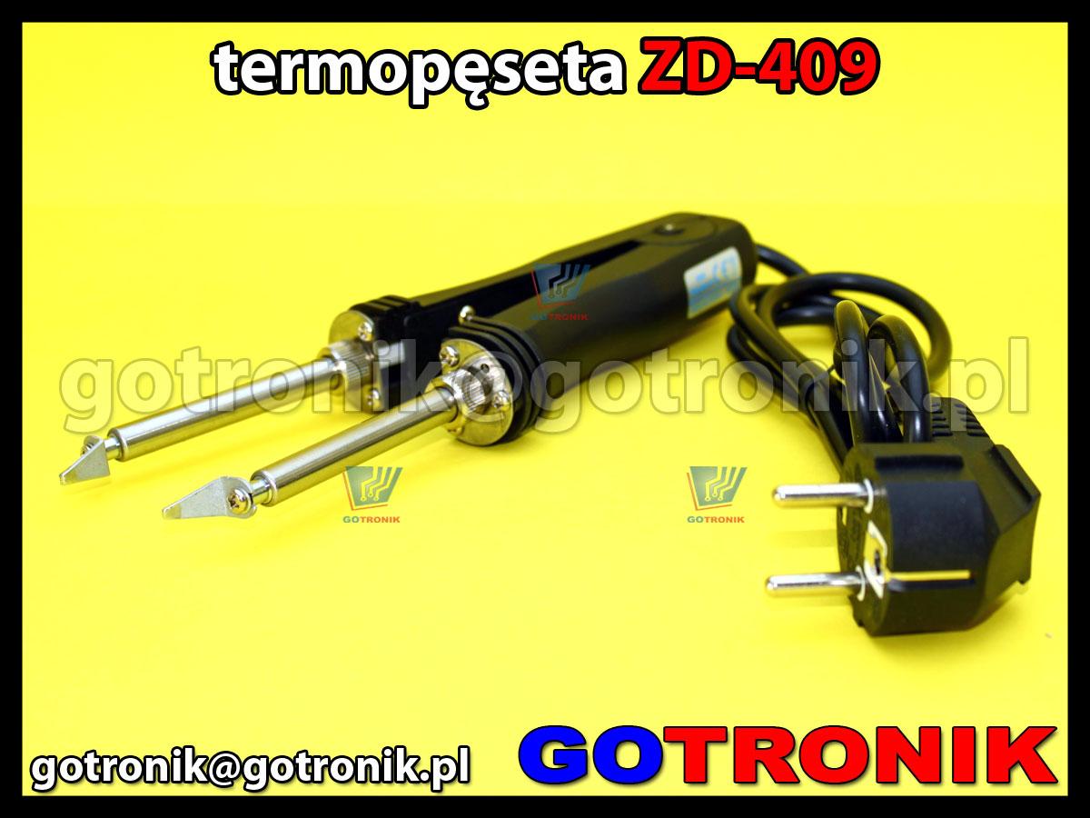 Termopęseta ZD-409 - gorące szczypce, lutownica oporowa 48W