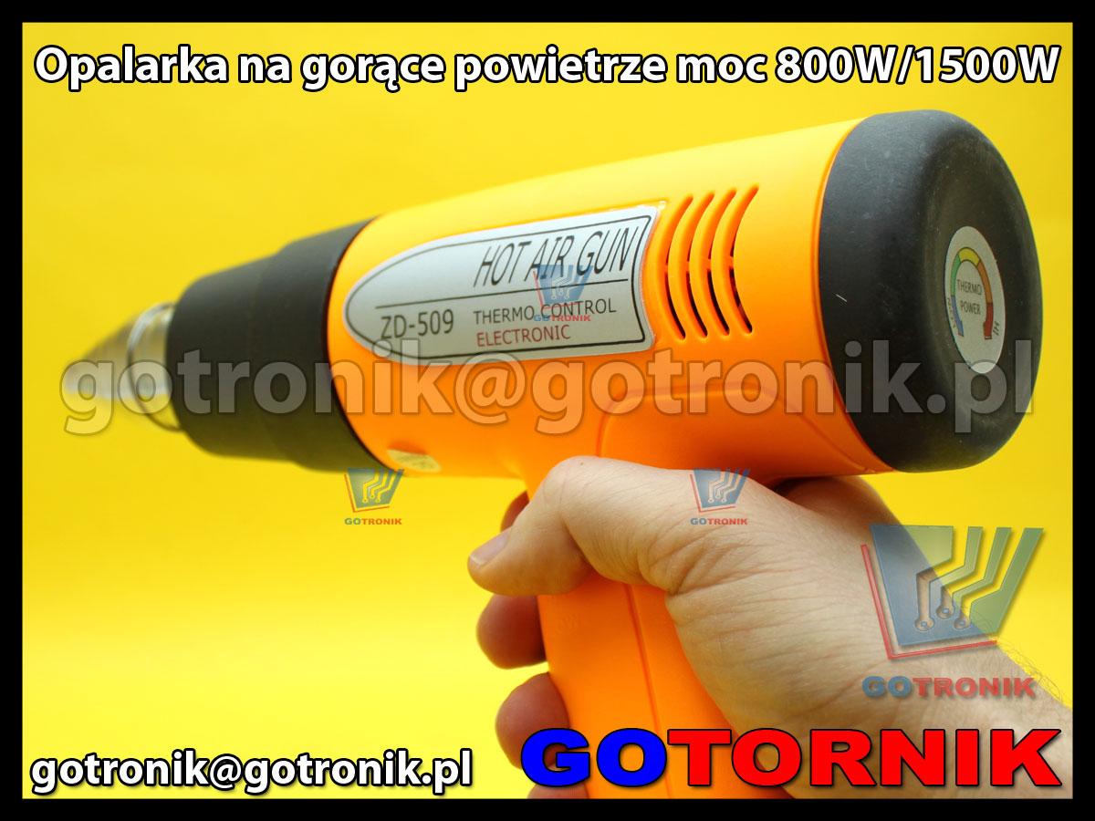 Opalarka na gorące powietrze moc 800W/1500W ZD-509