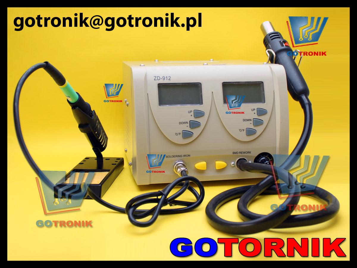 ZD-912 stacja lutownicza + HOT-AIR gorące powietrze ZD912