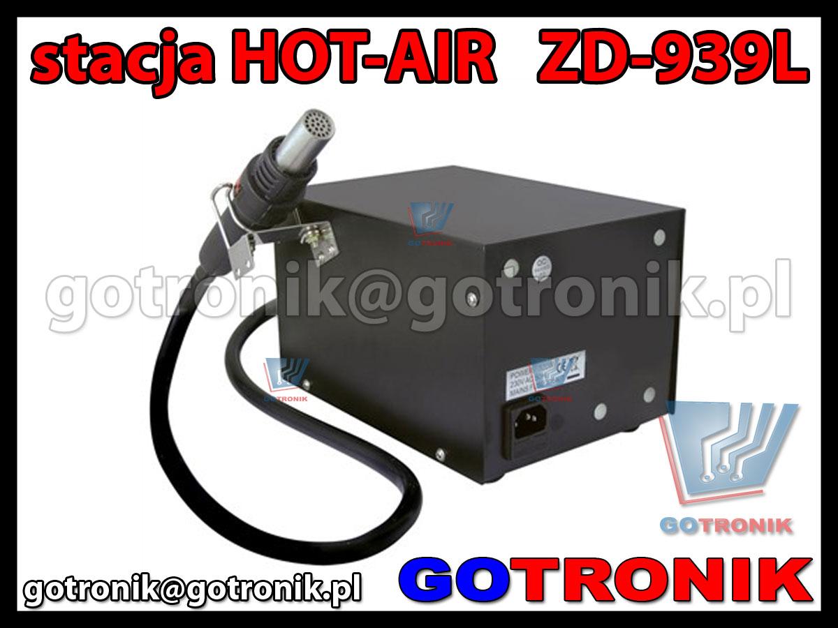 Stacja lutownicza na gorące powietrze ZD-939L HOT-AIR cyfrowa ZD939L