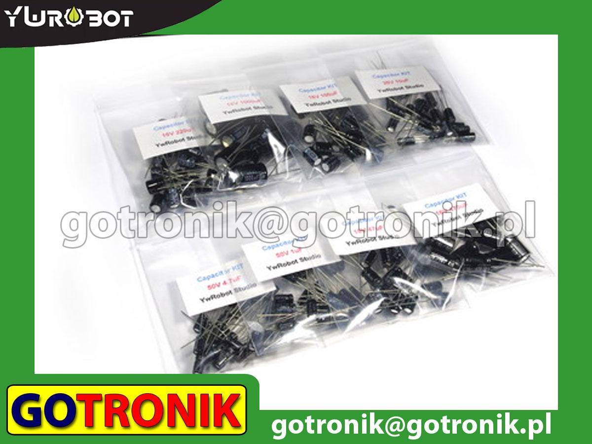 Zestaw kondensatorów elektrolitycznych 140 sztuk