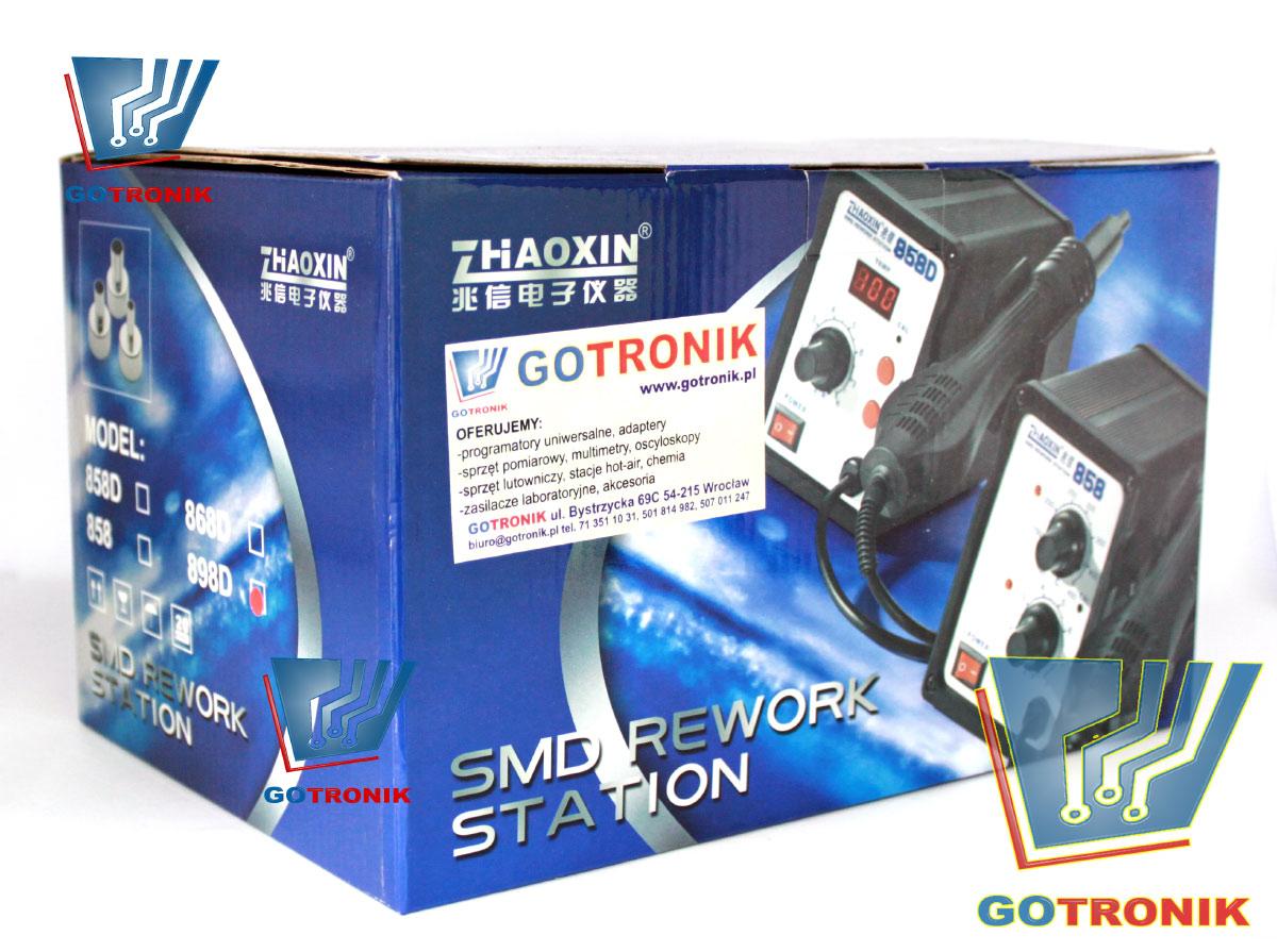 Stacja lutownicza 898D + HOT-AIR na gorące powietrze 2w1 Zaoxin Zhaoxin