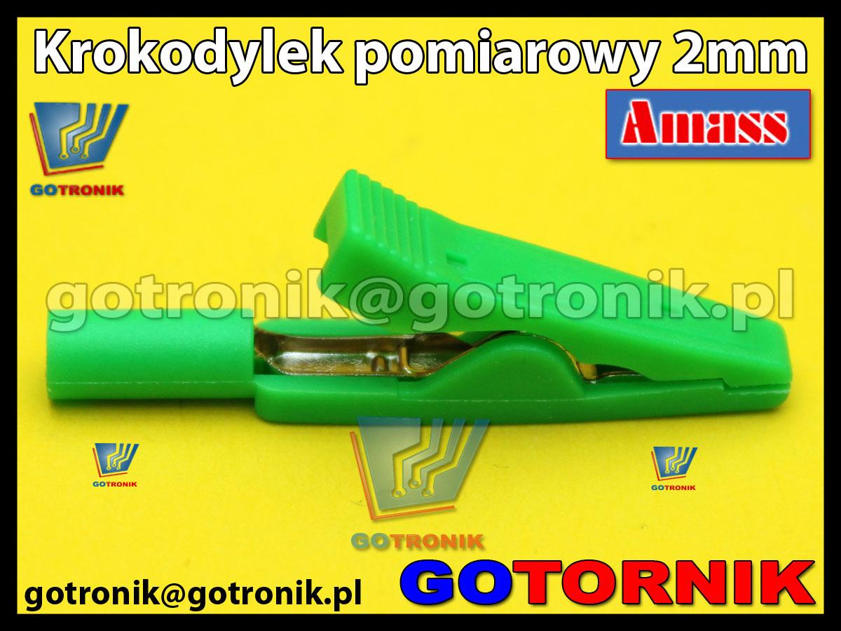 Krokodylek pomiarowy 2mm zielony