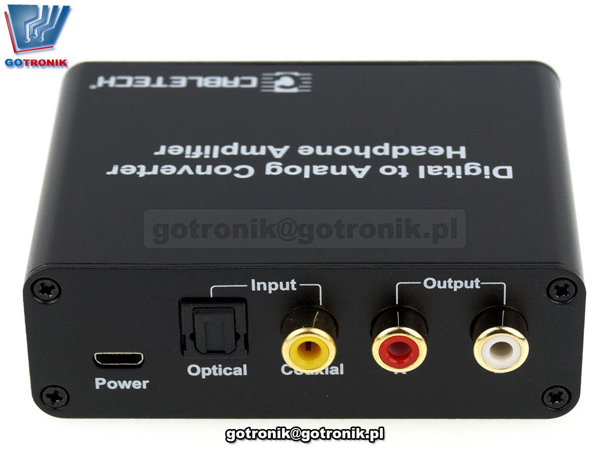 Złącze konwerter sygnału cyfrowego na analogowy z gniazdem słuchawkowym ZLA0857-3