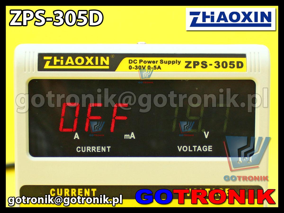 ZPS-305D ZPS305D zasilacz laboratoryjny zhaoxin 0-30V 5A regulowany