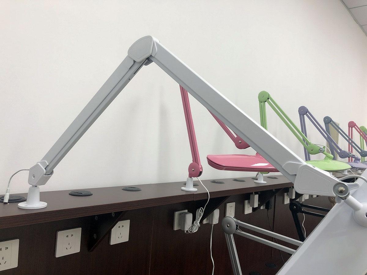Lampa warsztatowa na ramieniu, Lampa stołowa 324 LED, Lampa biurkowa z funkcją ściemniacza, lampa kreślarska, 9505LED, 9505LED-30-C, LAM-084