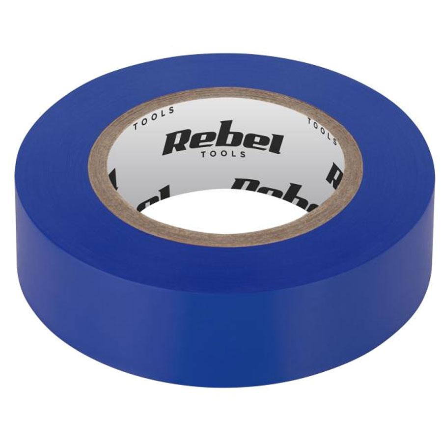 Taśma izolacyjna klejąca REBEL 0,13 mm x 19 mm x 20 yd niebieska