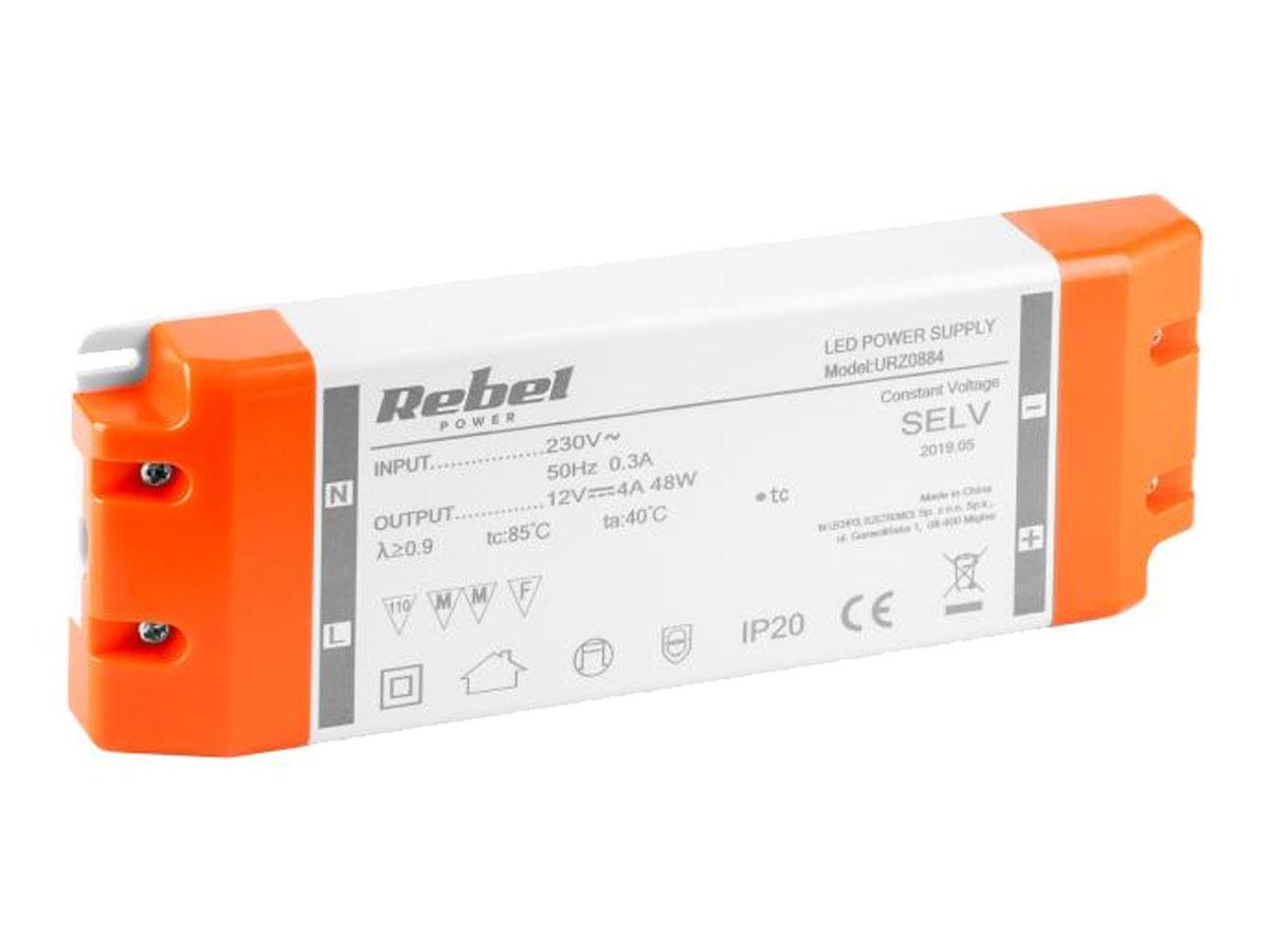 Zasilacz REBEL do sznurów diodowych LED 12V