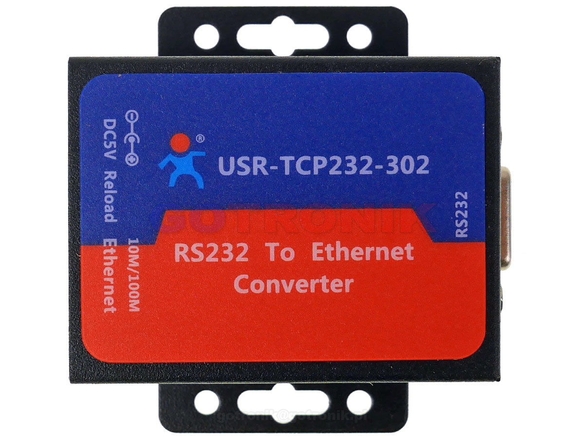 USR-TCP232-302 konwerter RS232 to Ethernet