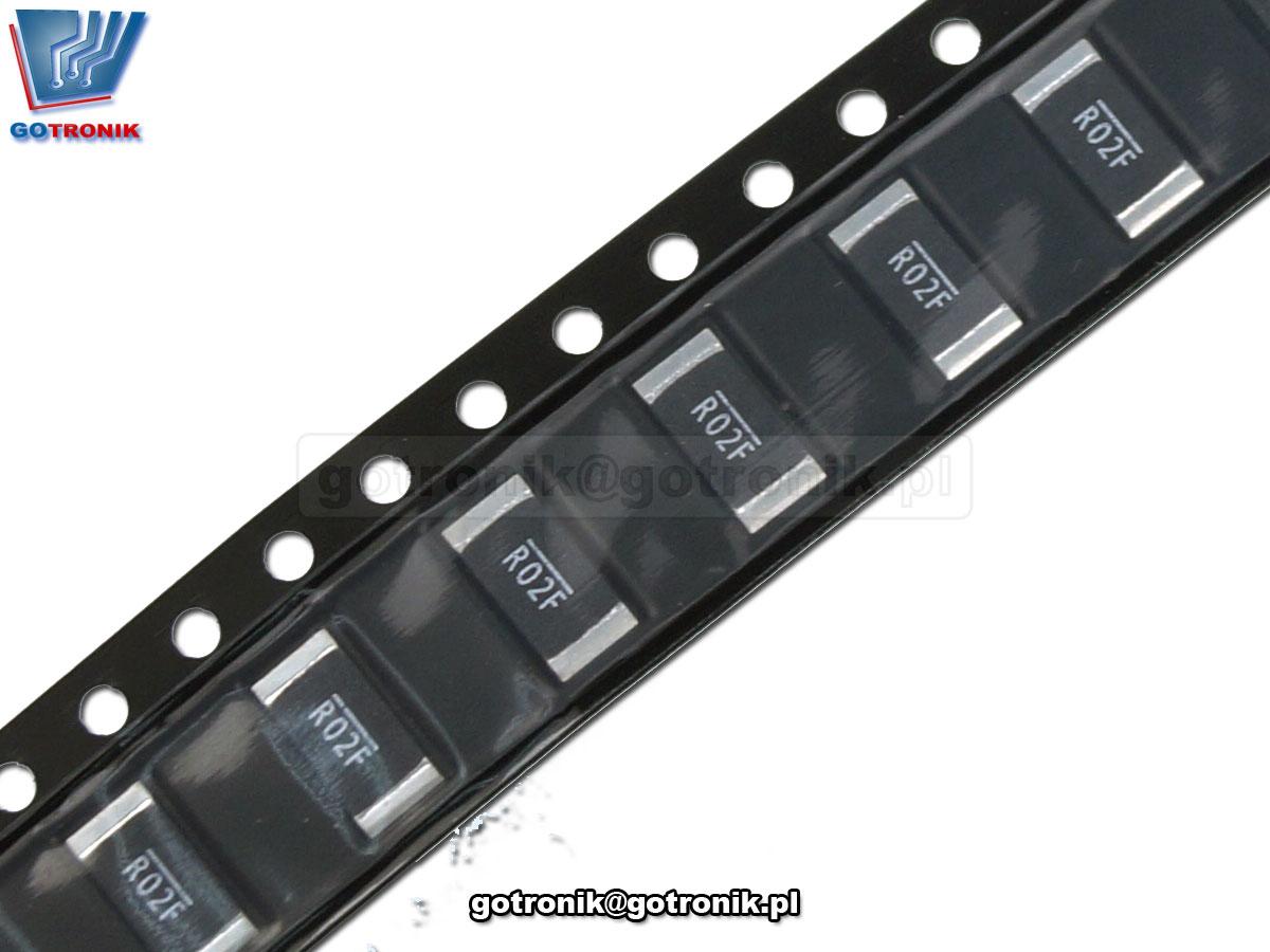 WSL2512R0200FEA 2512 DALE R02F 0,02ohm precyzyjny rezystor smd bocznik pomiarowy