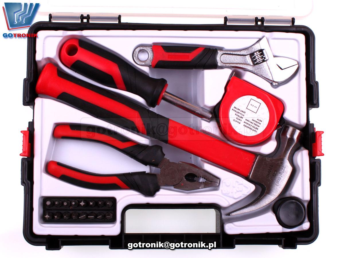 zestaw narzędzi ręcznych 22 sztuki w plastikowej walizce HTH125