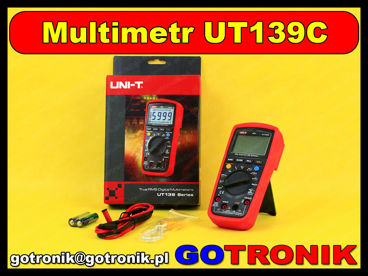 UT139C multimetr uniwersalny cyfrowy miernik True RMS Uni-t