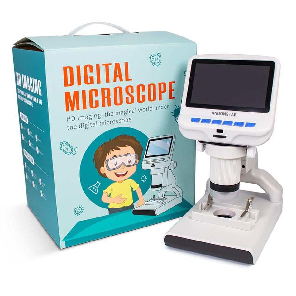 Mikroskop cyfrowy AD102 Andonstar LCD edukacyjny szkolny dla dzieci