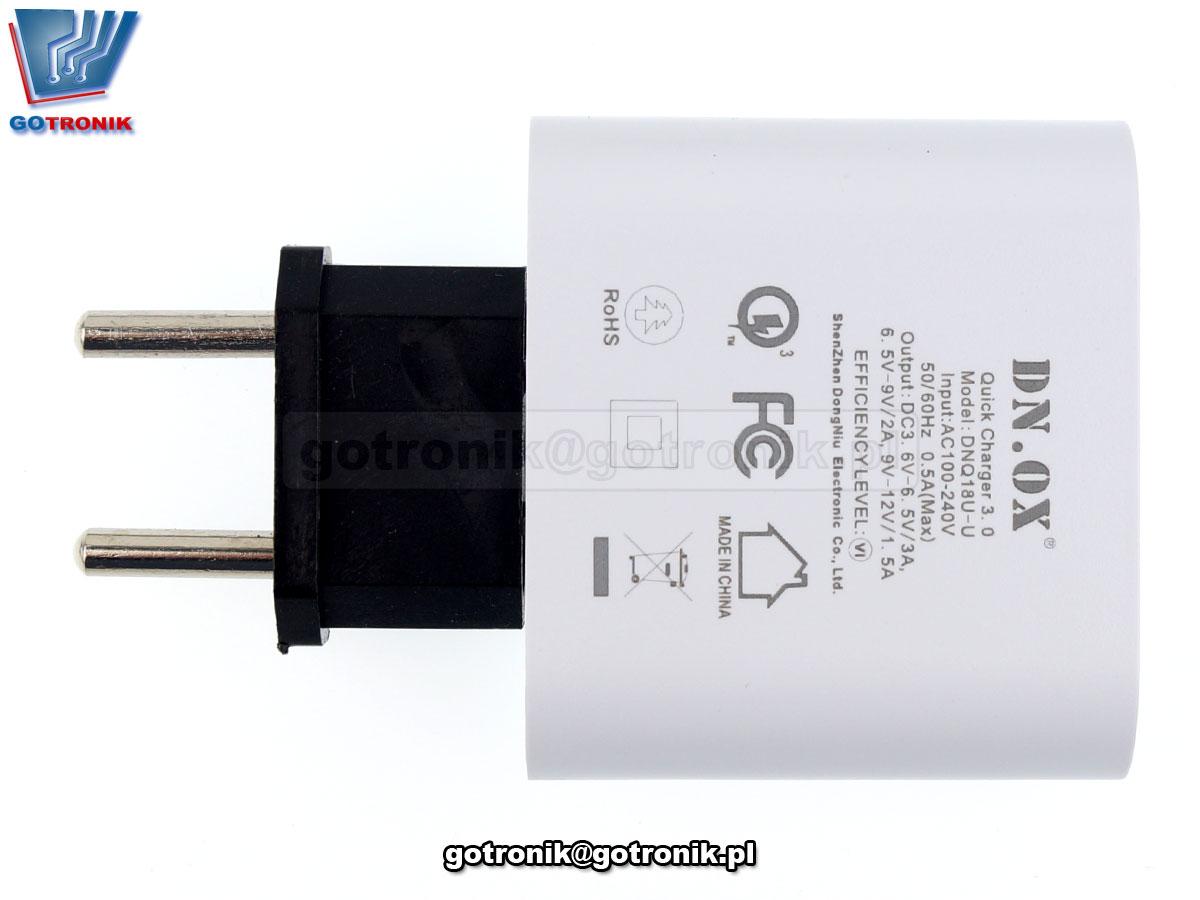 Przejściówka / adapter - wtyczka zasolania przelotowa USA - Polska