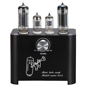 Wzmacniacz lampowy HIFI 3W+3W czarna obudowa lampa elektronowa