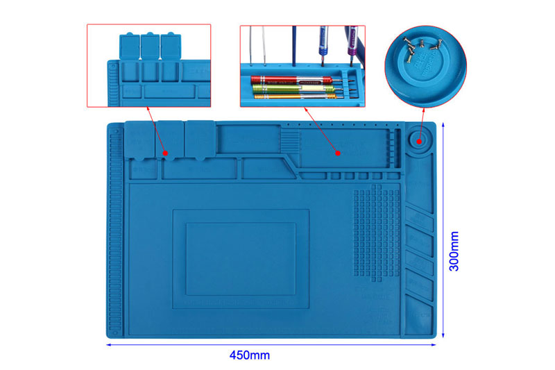 Mata silikonowa do lutowania 450x300mm AS11 Velleman 45x30cm