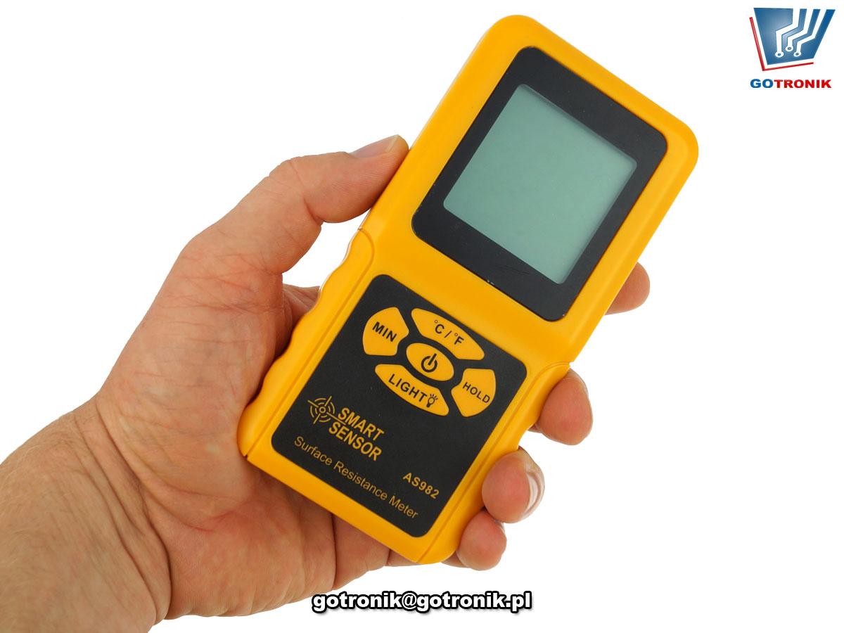 AS982 tester rezystancji powierzchniowej miernik
