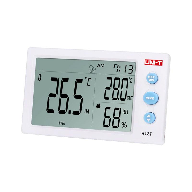 A12T stacja pogodowa z zewnętrznym czujnikiem termometr miernrik temperatury Uni-t