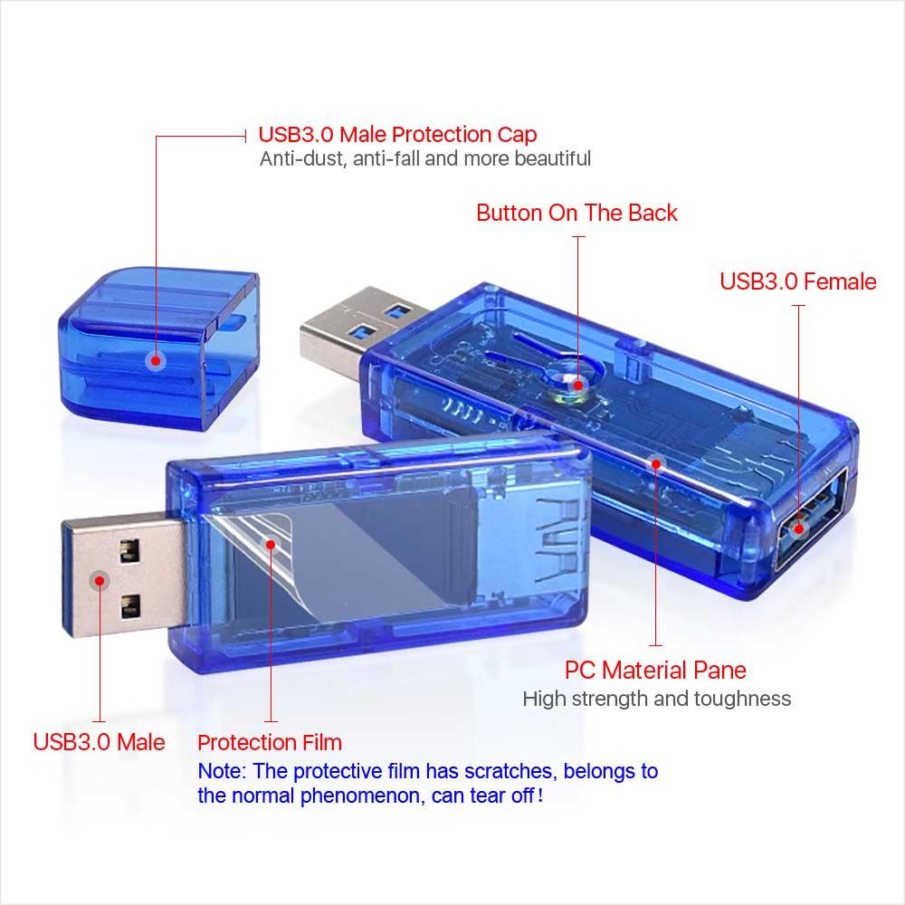AT35 miernik USB3.0 30V 4A tester z kolorowym wyświetlaczem