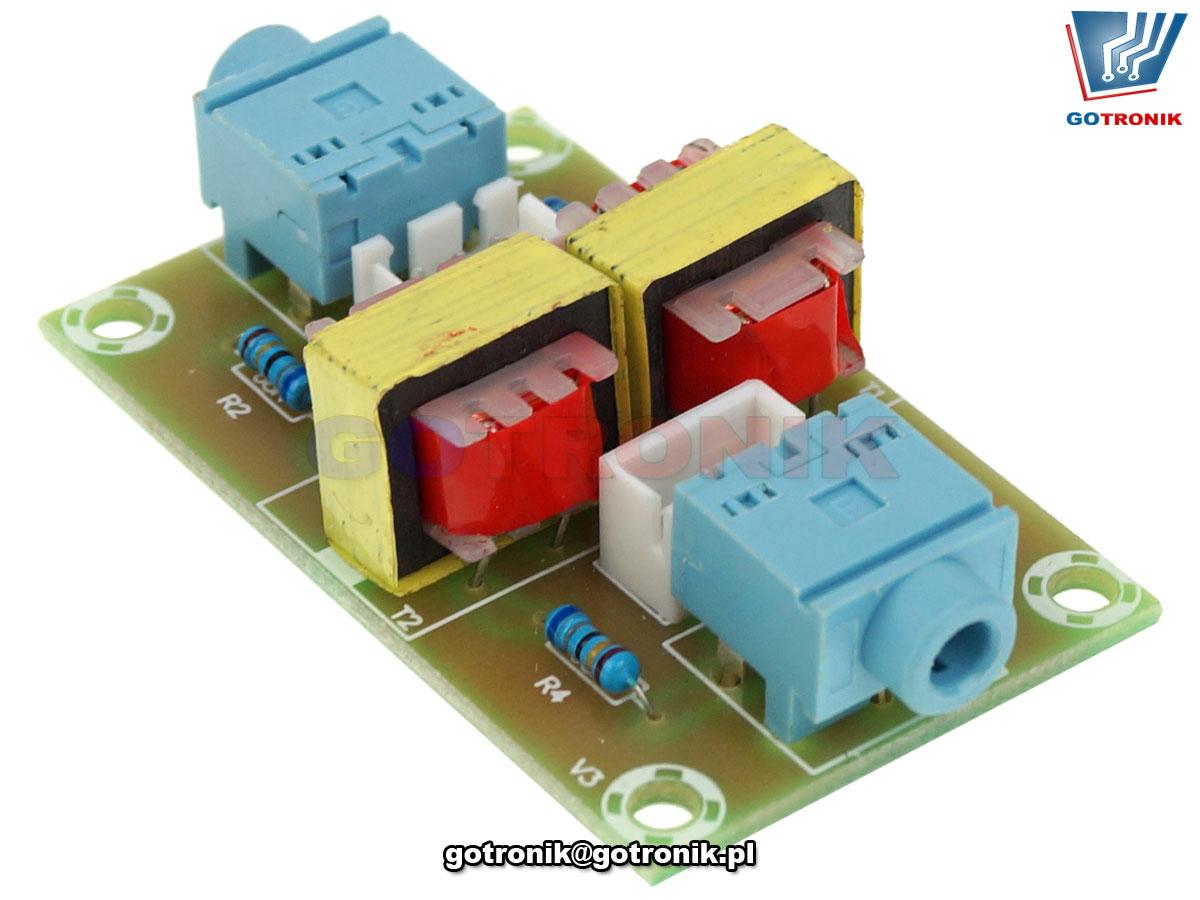 Izolator szumów akustycznych HiFi Audio Stereo Izolator Jack 3,5mm BTE-916