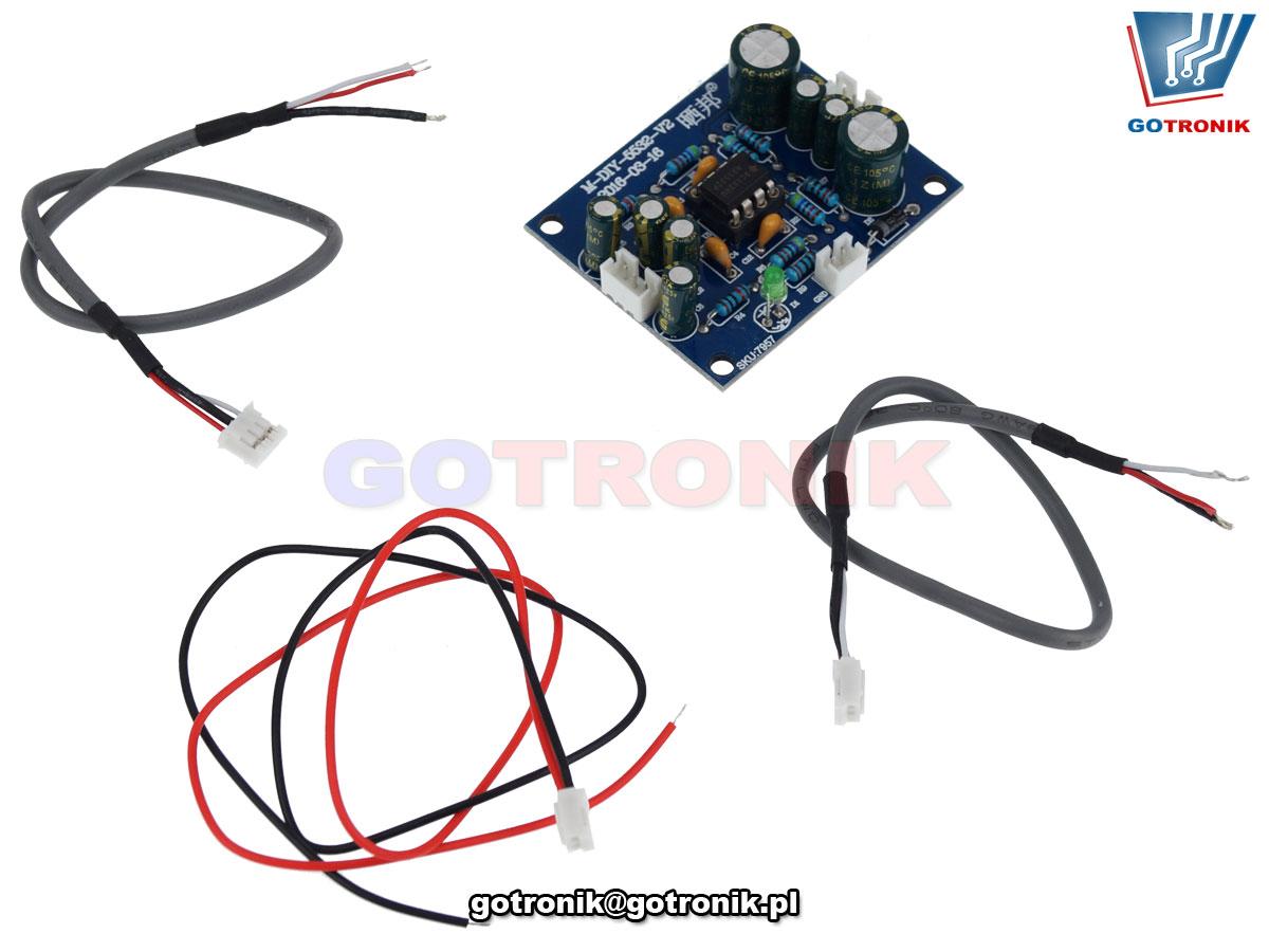 Aktywny przedwzmacniacz audio NE5532 preamp BTE-917