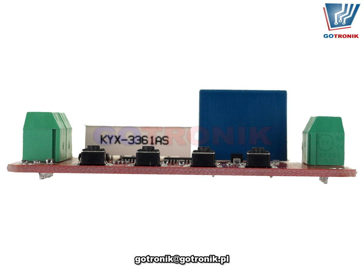 Przekaźnik DVB01 sterowany napięciem – komparator. Moduł ładowania i rozładowywania