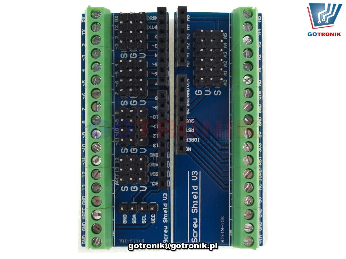 Screw Shield V3 dla Arduino - złącze śrubowe BTE-923