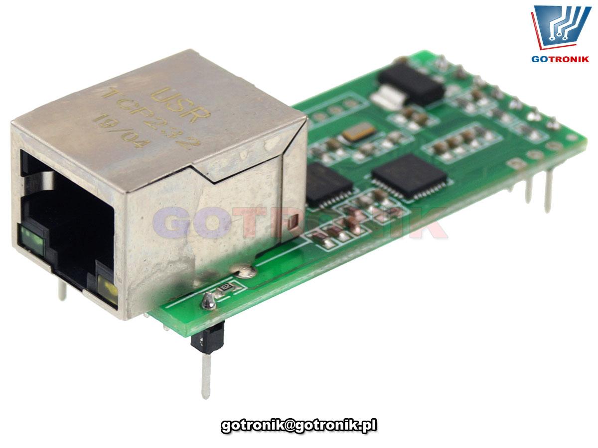 konwerter Ethenet - port szeregowy UART TTL USR-TCP232-T2 BTE-926