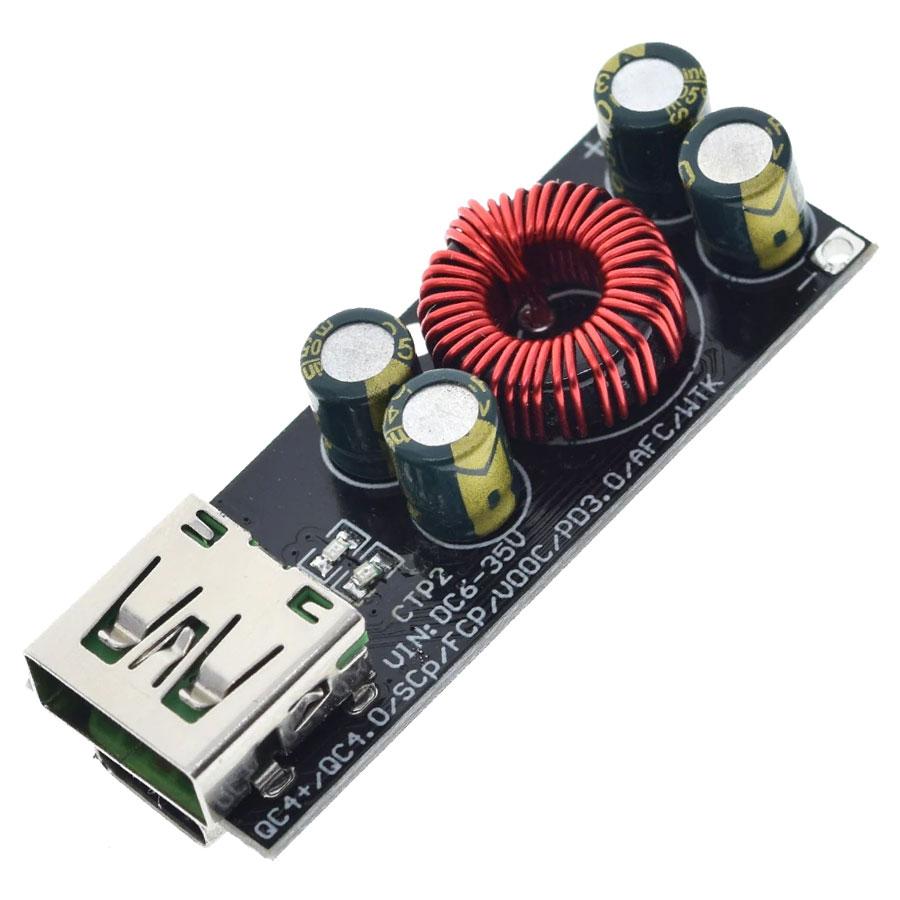 Przetwornica napięcia - szybka ładowarka USB QC3.0/QC4.0 podwójna quick charge BTE-1023