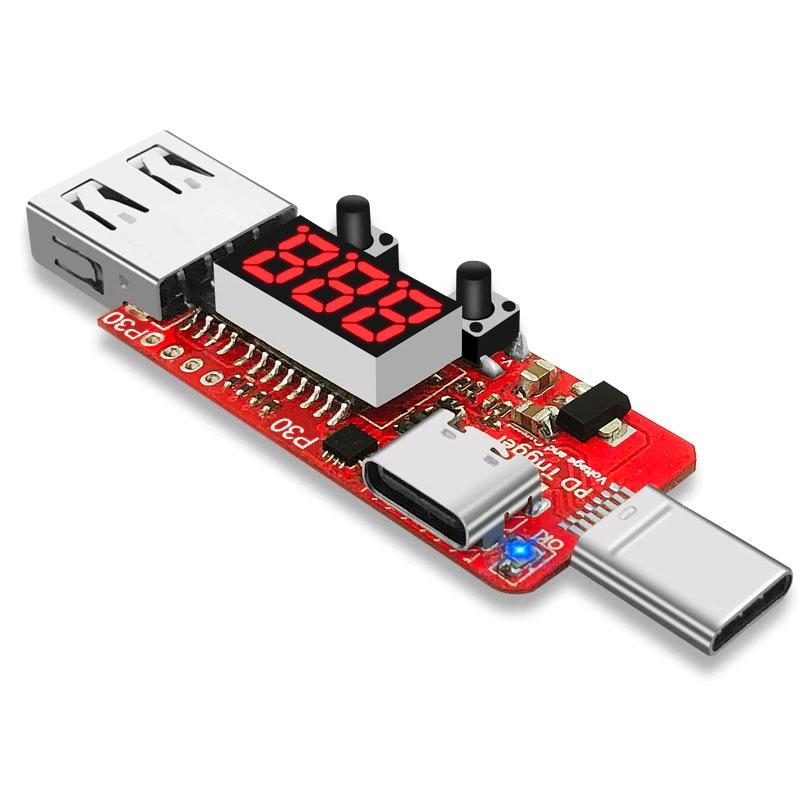 Wyzwalacz - tester dla ładowarek USB QC2.0/3.0 z woltomierzem/amperomierzem BTE-1024