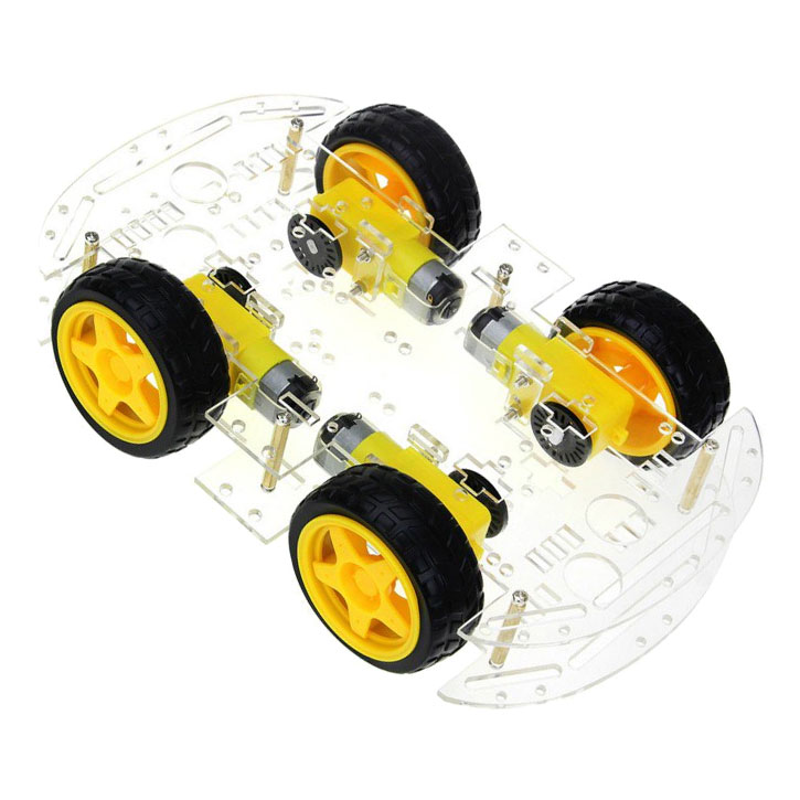 Podwozie robota 4 silniki z enkoderami - platforma mobilna 4WD BTE-169