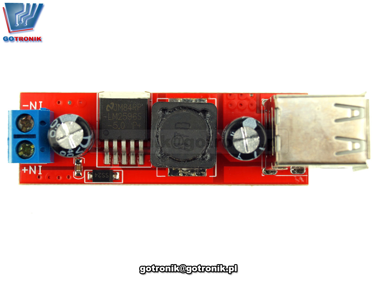 Podwója ładowarka USB 5V 3A moduł przetwornicy impulsowej napięcia DC-DC 6V-40V LM2596S BTE-6999
