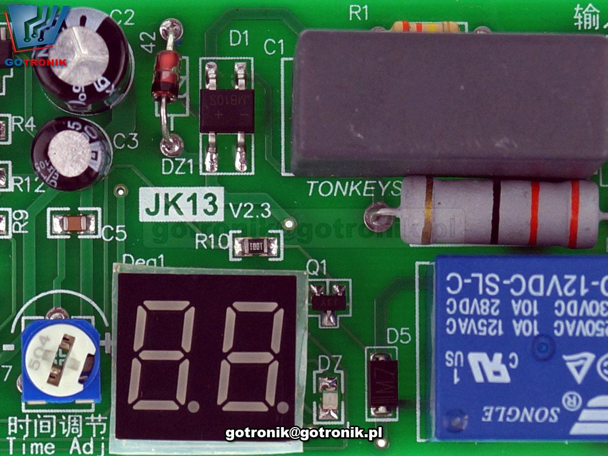 BTE-771 JK13 moduł czasowego przekaźnika opóźnione włączenie wyłączenie układ czasowy timer