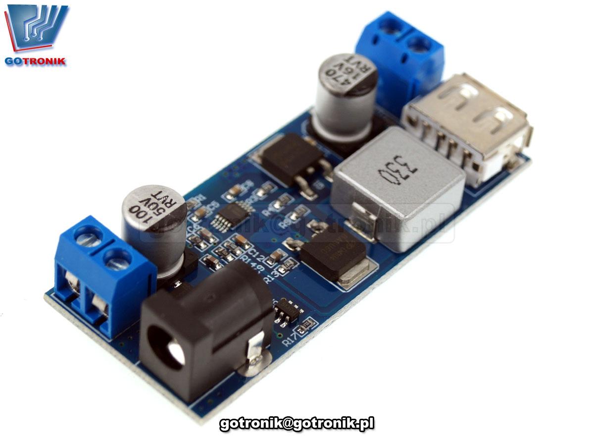 BTE-712 ładowarka USB 5V 5A moduł przetwornicy impulsowej napięcia DC-DC 9V-36V
