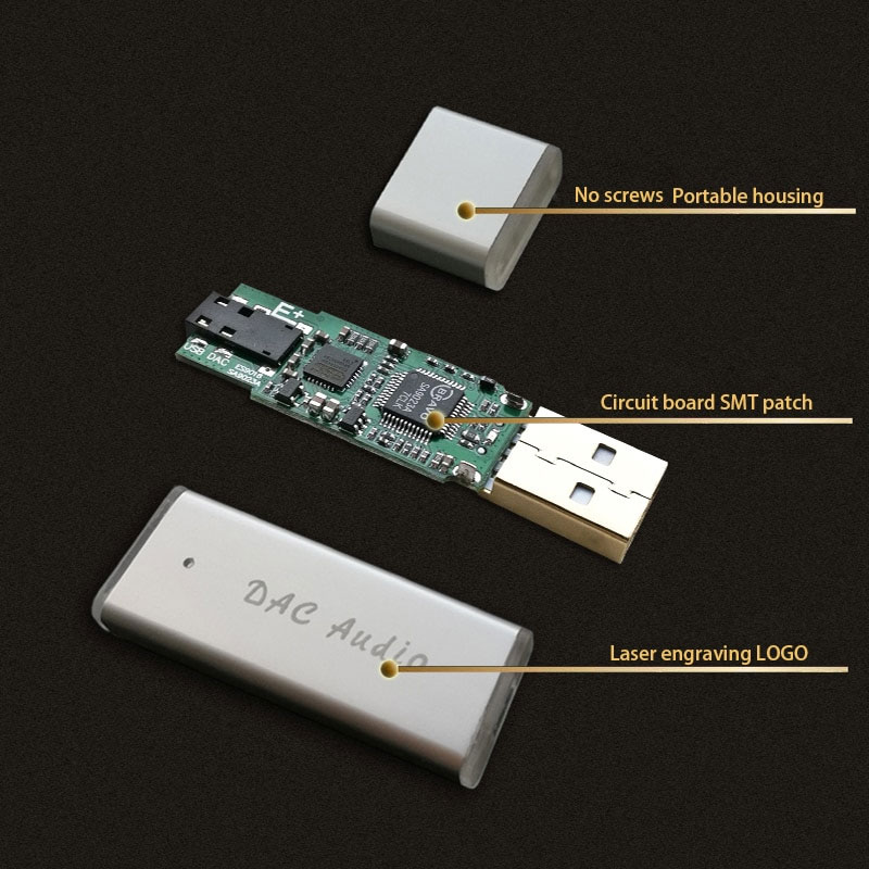 Przetwornik DAC SA9023A + ES9018K2M przenośny wzmacniacz słuchawkowy HIFI Audio TPA6133A2 BTE-751