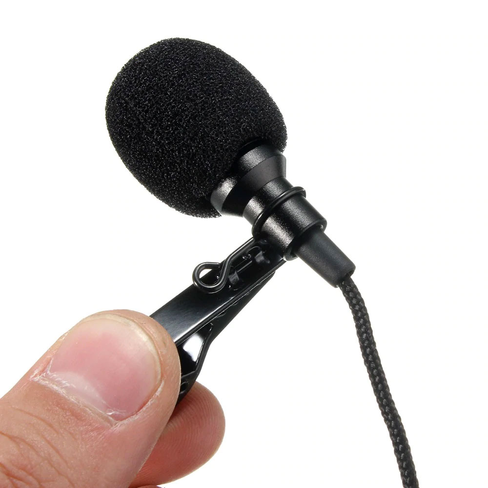 Mikrofon z klipsem wtyk jack 3,5mm stereo bte-762