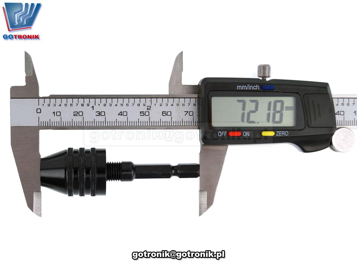 Uchwyt samozaciskowy 0,3 do 6,5mm na HEX 1/4 6,35mm bte-765
